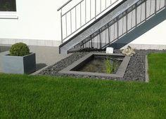 GFK Teichbecken Wasserbecken Holzumrandung WPC Moderner Miniteich Im GArten  Terrasse