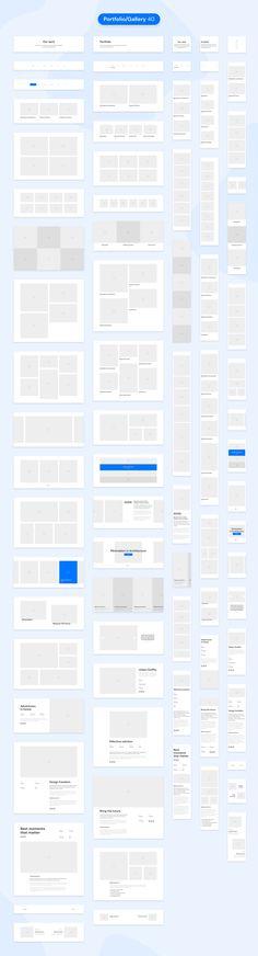 DOB – Desktop & Mobile Wireframe Kit by laaqiq on Design Ios, Web Design Tips, Blog Design, Web Design Inspiration, Design Process, Wireframe Web, Mobile Wireframe, Website Wireframe, Design Thinking