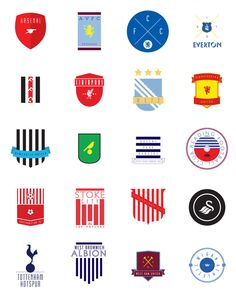 Premier League 12/13 by Matthew Adamson, via Behance
