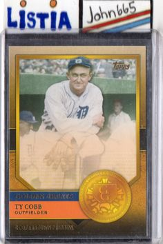TY COBB - 2012 TOPPS GOLDEN GREATS #GG-16 - MINT - DETROIT TIGERS - FREE S/H