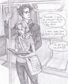 ok this is exactly what percy and annabeth look like in the book!! THANK YOU BURDGE!!!