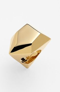 MARC by Marc Jacobs 'Rock' Geometric Statement Ring Gold