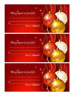 Colorful and decorative coupon to fill in most any type of gift. Free Gift Voucher Template, Free Printable Gift Certificates, Massage Gift Certificate, Christmas Gift Certificate Template, Printable Gift Cards, Christmas Templates, Free Christmas Printables, Coupon Template, Templates Printable Free