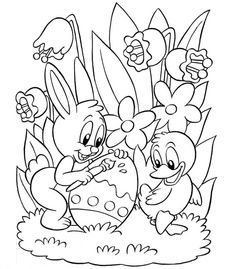 coloring page Easter - Easter