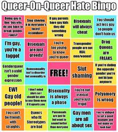 Queer-on-Queer Hate Bingo