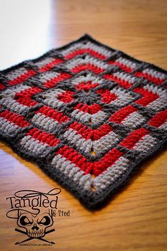 "As part of the KCACO-UK CAL for 2015, I present the Larksfoot Inspired 12"" Granny Square."