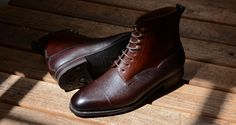 Meermin , 101538 - BROWN COUNTRY CALF & OAK ANTIQUE CALF