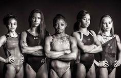 Get inspired by the 2016 Olympic Team for gymnastics! Simone Biles, Gabby Douglas, Aly Raisman, Laurie Hernandez and Madison Kocian Go Team USA! 2016 Olympic Gymnastics Team, Olympic Team, Olympic Games, Women's Gymnastics, Gymnastics Pictures, Artistic Gymnastics, American Gymnastics, Gymnastics History, Gymnastics Posters