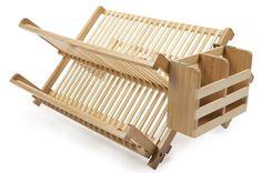 Amazon.com: Core Bamboo Dish Rack with Utensil Holder, Natural: Utensil Organizers: Kitchen & Dining