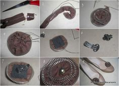 DIY shoe bling and zipper flower tutorial |Makeup and Macaroons