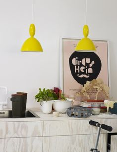 The MHY pendant lamp creates a playful personality with its strong references to children's literature, while at the same staying true to its Scandinavian design heritage with its characteristic and elegant shape. The lamp is produced in high quality aluminium and the woven textile chord provides a softer contrast to the harder lamp shade. Available in six different colours, MHY is ideal for mounting in clusters or rows to provide light installations uniquely tailored to each particular s...