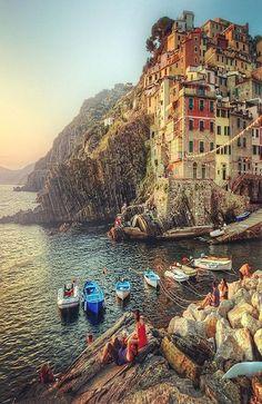 Riomaggiore . Cinque Terre, Italy