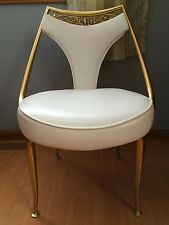 Vintage Virtue Brothers of California White Jeweled Chair