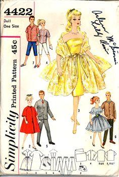 60s Barbie and Ken Clothes Plus Cut Out by VintagePatternsCo1, $12.99