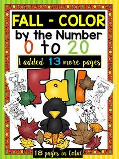 FALL Activities - Color by the Number - Math Worksheets These are fun activities that will ask the students to practice Numbers Recognition and also Learn the Colors .This set includes 18 worksheets. Can be use for homework, math center, morning work, etc.
