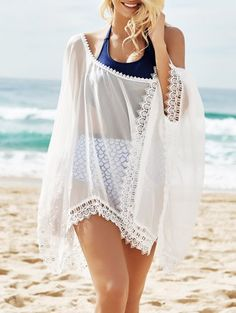 SHARE & Get it FREE | See-Through Lace Edging Half Sleeve Cover-Up - WhiteFor Fashion Lovers only:80,000+ Items • New Arrivals Daily Join Zaful: Get YOUR $50 NOW!