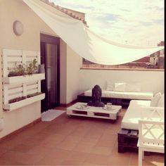 Mi terraza diy de pallets