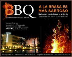 Un #verano más ya tenemos aquí la #barbacoa del #bestwestern Subur Maritim #Sitges