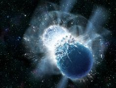 Twee neutronensterren botsen op elkaar. Bron: Dana Berry, SkyWorks Digital, Inc.