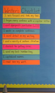 Writer's Checklist - a great way to teach children to edit/review their work Writing Resources, Classroom Resources, Writing Ideas, Writing Activities, Teaching Resources, Classroom Ideas, Teaching Kids To Write, Sentence Structure, Australian Curriculum
