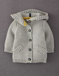 """""""Mini Boden 'Chunky' Cardigan - the gray would work for boy or girl"""", """"Baby Knitting Patterns Shop Winter Sale 2014 Baby Clothing for Boys & Girls 0 t Chunky Cardigan, Baby Cardigan, Knit Cardigan, Hooded Cardigan, Chunky Knitting Patterns, Knit Patterns, Tricot D'art, Pull Bebe, Cardigan Pattern"""