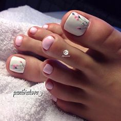 How to Get Your Feet Ready for Summer - 50 Adorable Toe Nail Designs 2019 - . How to Get Your Feet Ready for Summer - 50 Adorable Toe Nail Designs Swoon-Worthy Hairdos for Long Hair - Long Haircut - Pedicure Nail Art, Toe Nail Art, White Pedicure, Beach Pedicure, Wedding Pedicure, Acrylic Toe Nails, Wedding Toes, Pedicure Soak, Nail Nail