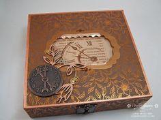 Cigar Box redo- maybe candy holder ? Cigar Box Projects, Cigar Box Crafts, Cigar Box Art, Cigar Box Purse, Altered Cigar Boxes, Photo Boxes, Creative Box, Arts And Crafts, Diy Crafts
