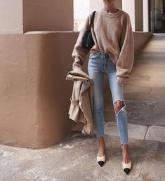 Totally Perfect Winter Outfit For Beautiful Women Street Style Outfits, Mode Outfits, Fashion Outfits, Fashion Women, Ootd Fashion, Fashion Beauty, Fashion Clothes, Style Fashion, Beauty Style