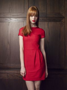 Nanette Lepore Pre-Fall 2014 - lady in red