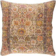 Shadi Khaki/Black/Bright Orange Pillow