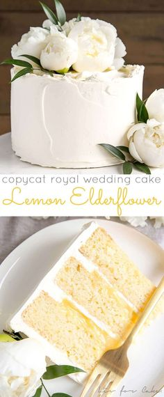 This Lemon Elderflower Cake is my copycat version of the royal wedding cake! Eld… This Lemon Elderflower Cake is my copycat version of the royal wedding cake! Elderflower infused lemon cake layers with lemon curd and elderflower buttercream. Just Desserts, Delicious Desserts, Dessert Recipes, Homemade Desserts, Food Cakes, Cupcake Cakes, Muffin Cupcake, Sweets Cake, Beautiful Cakes