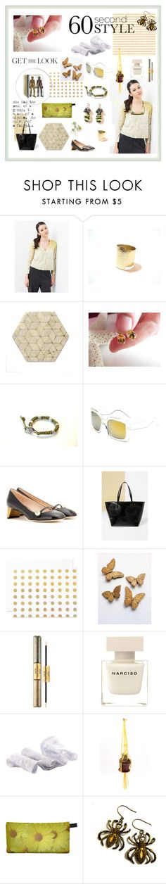 """""""Style Diary"""" by xena-style ❤ liked on Polyvore featuring Dessous, Retrò, Gucci, Desigual, The Pink Orange, WALL, tarte and Narciso Rodriguez"""