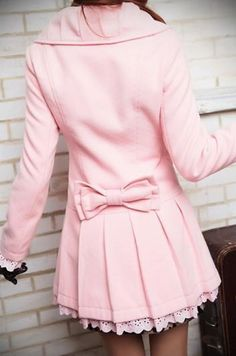 Pink peacoat! So girly!