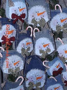 Snowman Jean Pocket