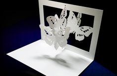Pop up Card Butterfly by PAPERandARTScom on Etsy