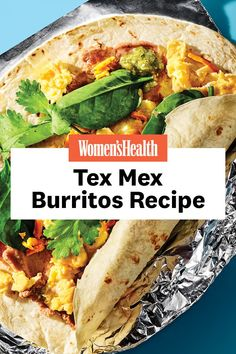 This Tex Mex breakfast burrito will be your new favorite breakfast, with 20 grams of protein. Breakfast Options, Breakfast Recipes, Yogurt And Granola, Breakfast Burritos, Refried Beans, Tex Mex, A Food, Food Processor Recipes, Meal Prep