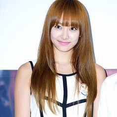 Long Caramel Straight with Bangs