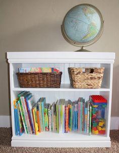Adding molding to bookshelves