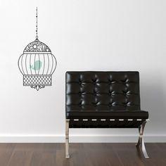 Caged birds can sing wall decal #wallart dotandbo.com