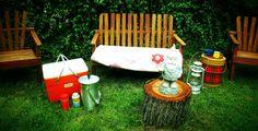 vintage outdoor stuff...  plus our gnome