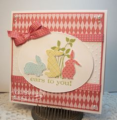 handmade card ... simple layout ... three bunnies and a punny statement ... like the overall feel ... Stampin' Up!