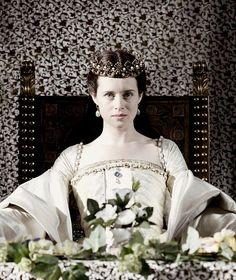 Claire Foy as Anne Boleyn in Wolf Hall Anne Of Cleves, Anne Boleyn, Movie Costumes, Cool Costumes, Downton Abbey, Little Dorrit, Wolf Hall, The Other Boleyn Girl, Tudor Fashion