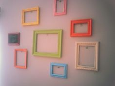 Kids art gallery wall--for the playroom or upstairs hallway