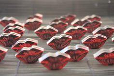 Red Lip Studs designed by Patricia Nicolas