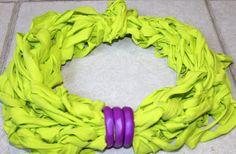 collana sciarpa limone viola di ilFilodiFranci su Etsy, €18.00