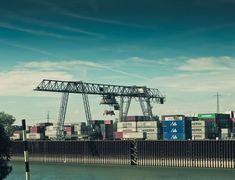 #cargo #crane #harbor #harbour #port #shipping #water