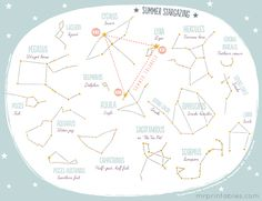 This printable summer constellation map will help you find constellations in the Northern Hemisphere
