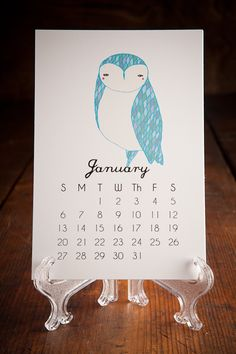 Gingiber Illustrated Desktop Calendars