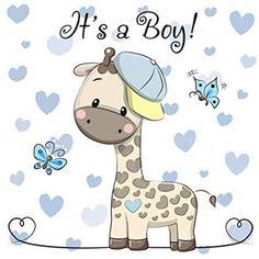 Buy Baby Shower Greeting Card with Giraffe Boy by on GraphicRiver. Baby Shower Greeting Card with cute Cartoon Giraffe boy Baby Shower Greetings, Baby Shower Greeting Cards, Cartoon Giraffe, Cute Cartoon, Dibujos Baby Shower, Baby Boy Cards, Baby Shower Giraffe, Baby Illustration, Baby Boy Announcement