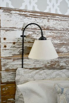 HEADBOARD AND WALL LIGHT TO MAKE--YOU COULD ALSO MAKE THE WALL LIGHT AND HANG IT WITHOUT THE HEADBOARD. TUTORIAL